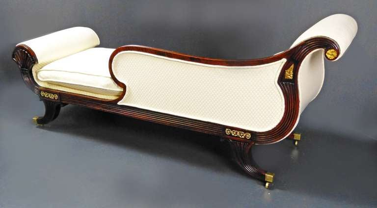 Early 19th century federal chaise longue day bed at 1stdibs for Chaise longue day bed