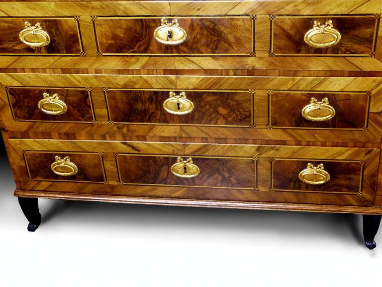 German 18th Century Commode Chest of Drawers 6