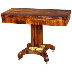 Early 19th Century Biedermeier Foldover Tea Table