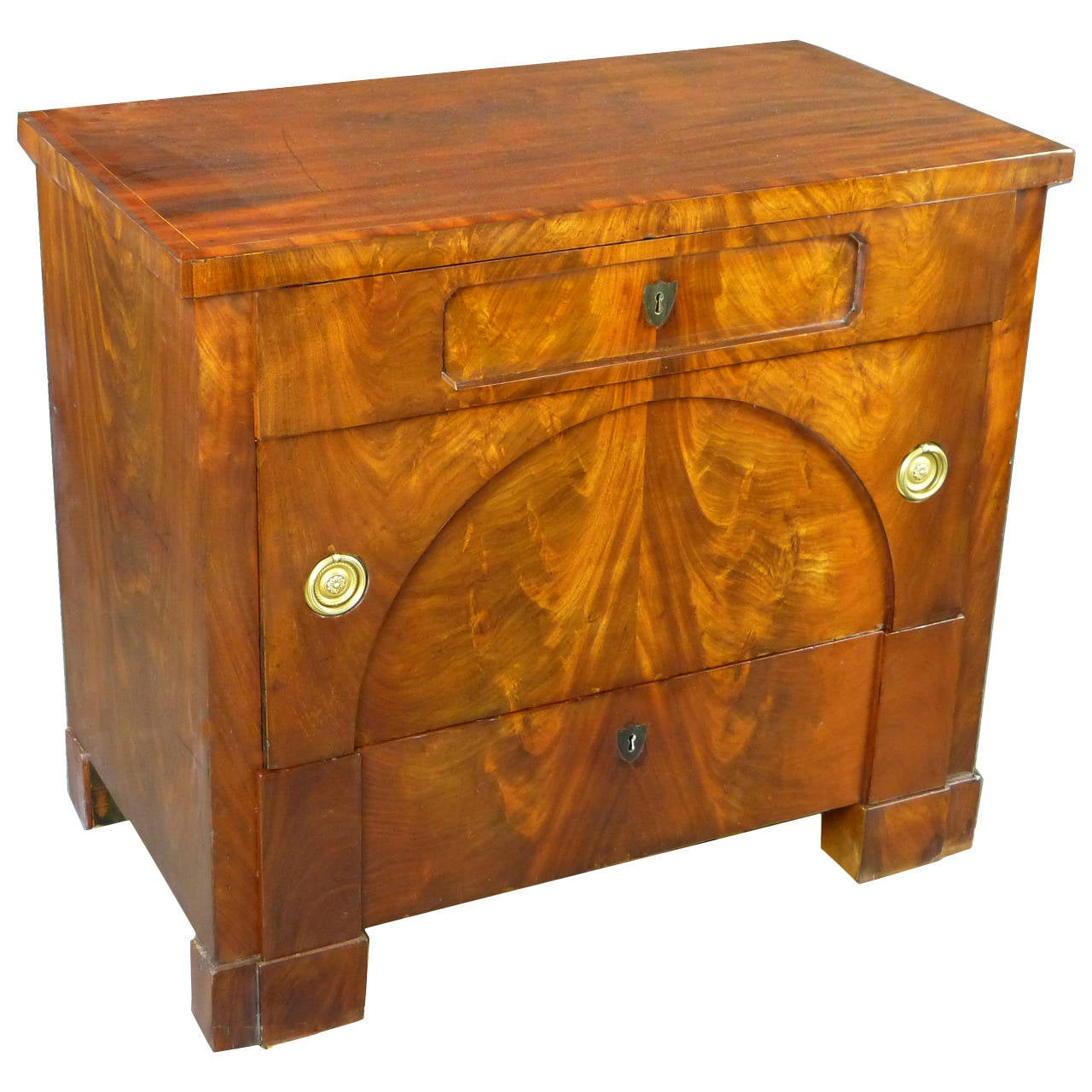 early 19th century biedermeier petite commode or chest of drawers for sale at 1stdibs. Black Bedroom Furniture Sets. Home Design Ideas