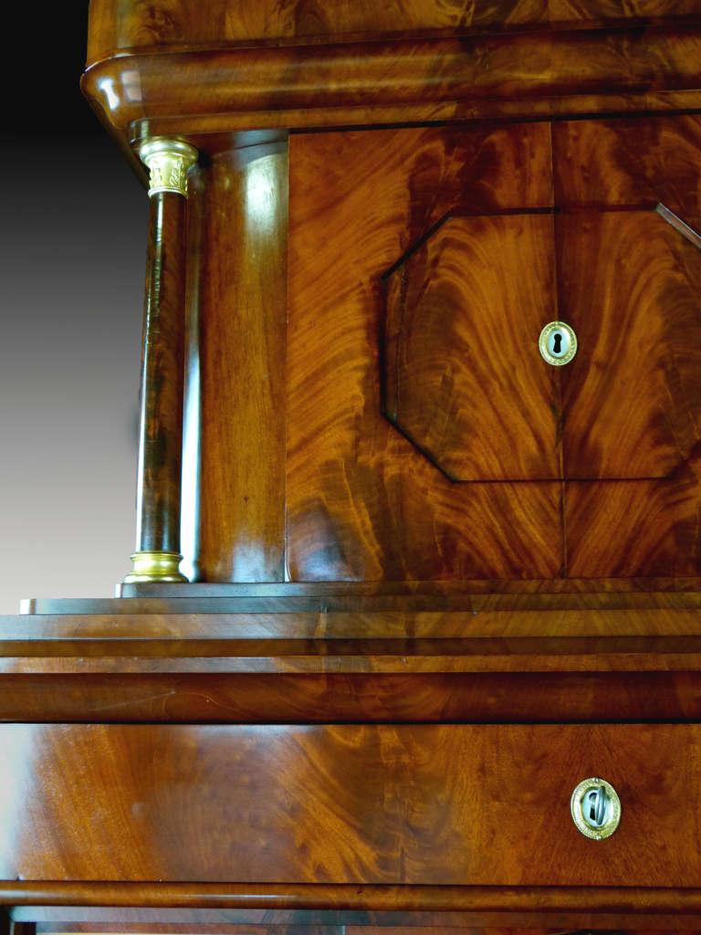 Secretaire Tabernacle Early 19th Century Biedermeier Signed For Sale 3