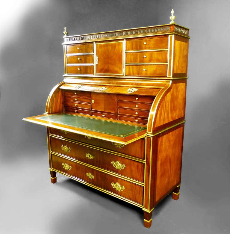 bureau secretaire roll top russian empire at 1stdibs. Black Bedroom Furniture Sets. Home Design Ideas