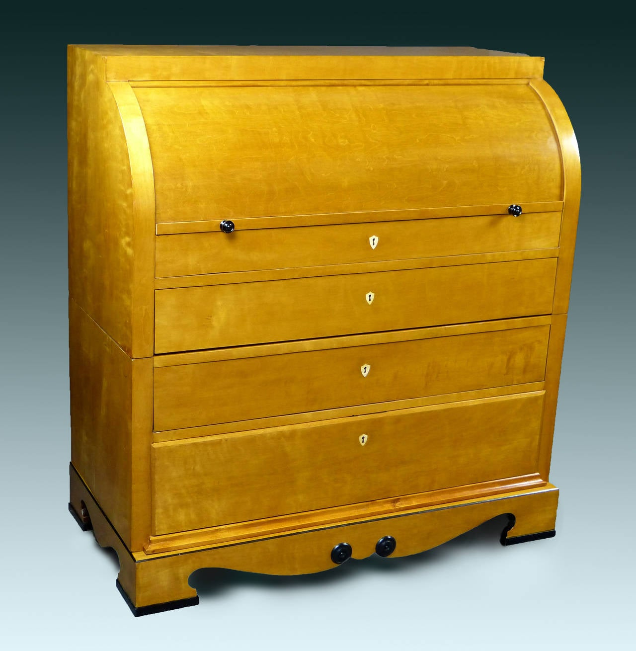 Biedermeier Cylinder Top Bureau Sweden At 1stdibs