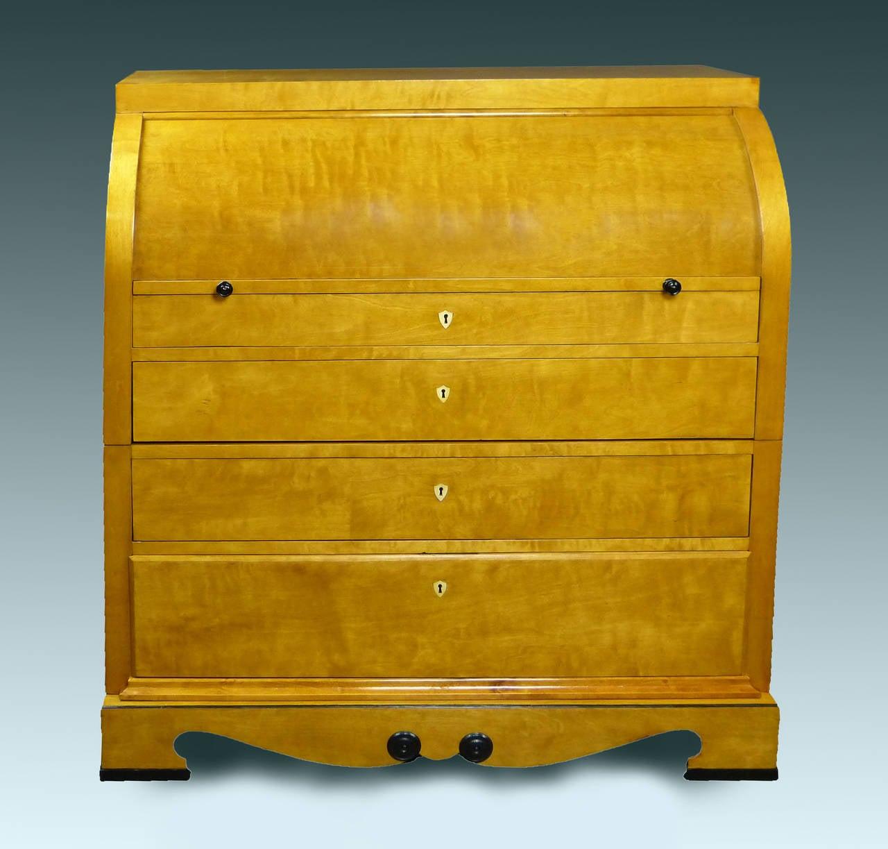 biedermeier cylinder top bureau sweden at 1stdibs. Black Bedroom Furniture Sets. Home Design Ideas