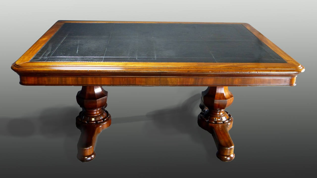 Large 19th Century Irish Writing Table Desk By Williams U0026 Gibton 2