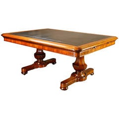 Large 19th Century Irish Writing Table Desk by Williams & Gibton