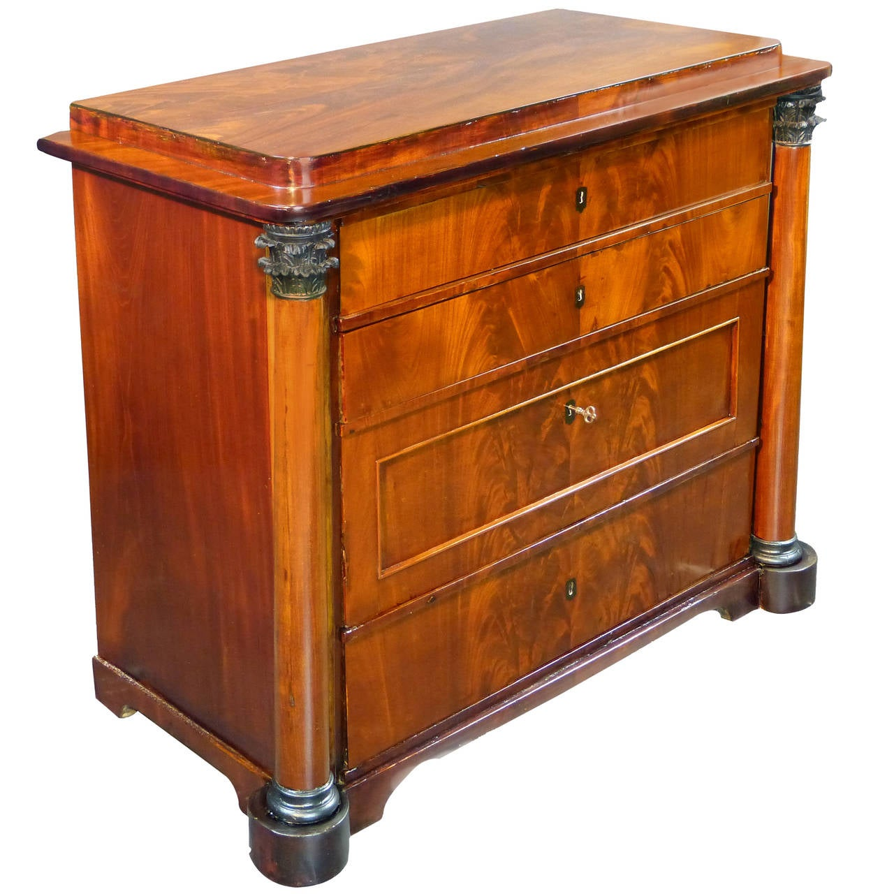 Early 19th Century Danish Biedermeier Commode Chest of Drawers