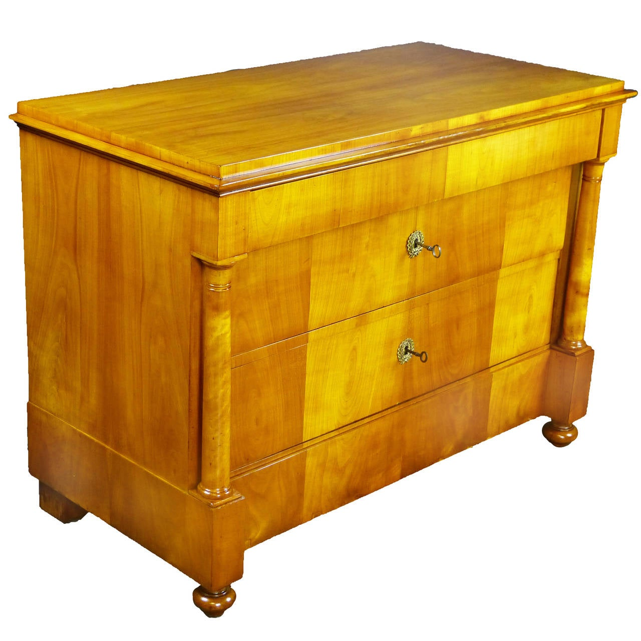 Early 19th Century Swedish Biedermeier Cherry Wood Commode Chest of Drawers