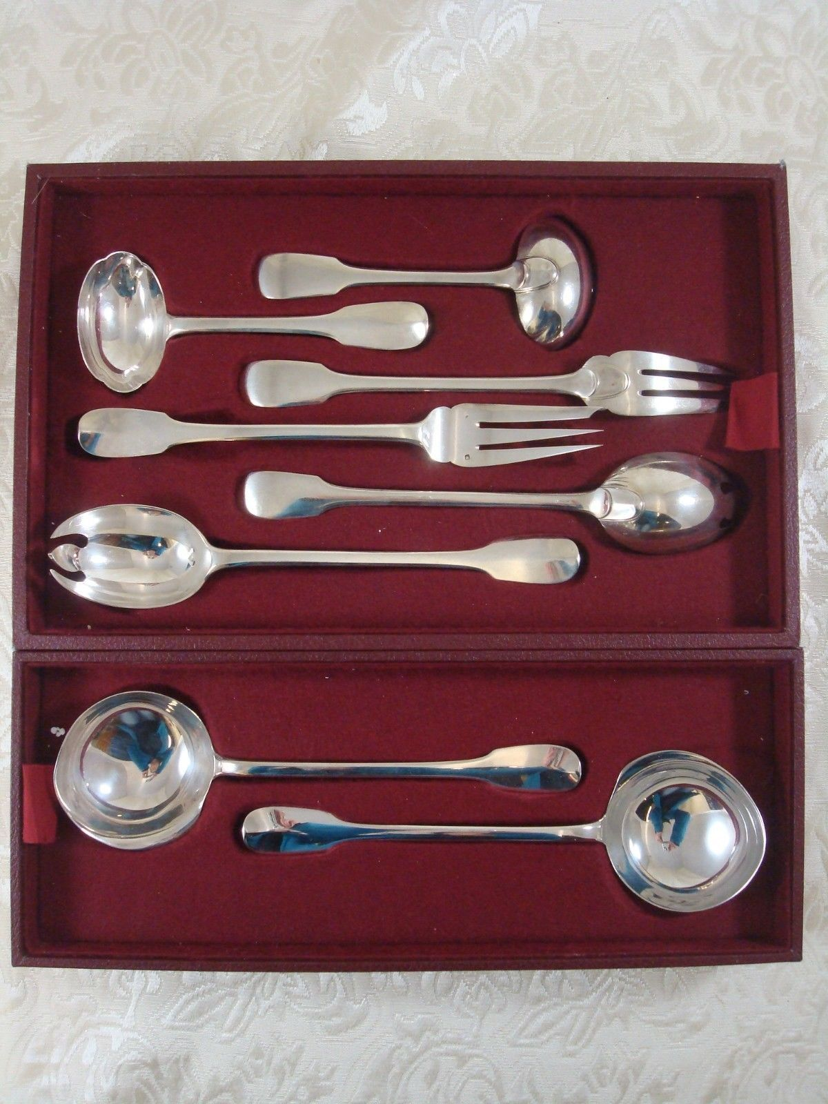 Enlarge Louvois by Puiforcat Sterling Silver Flatware Set Service France 248 Pcs In Excellent Condition In Big Bend, WI