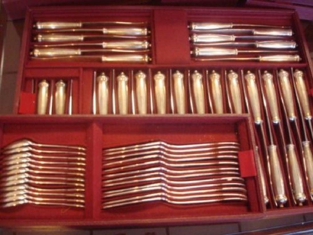 18th Century Enlarge Louvois by Puiforcat Sterling Silver Flatware Set Service France 248 Pcs