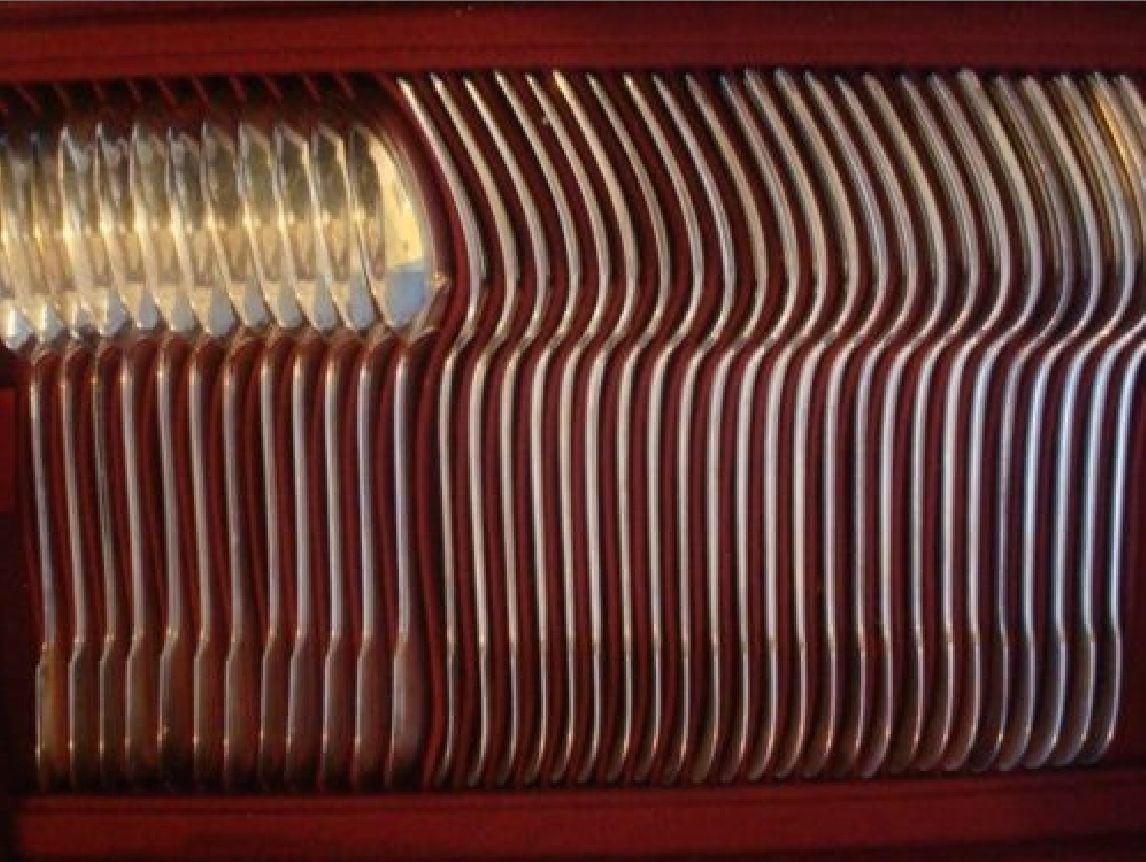 Enlarge Louvois by Puiforcat Sterling Silver Flatware Set Service France 248 Pcs 2