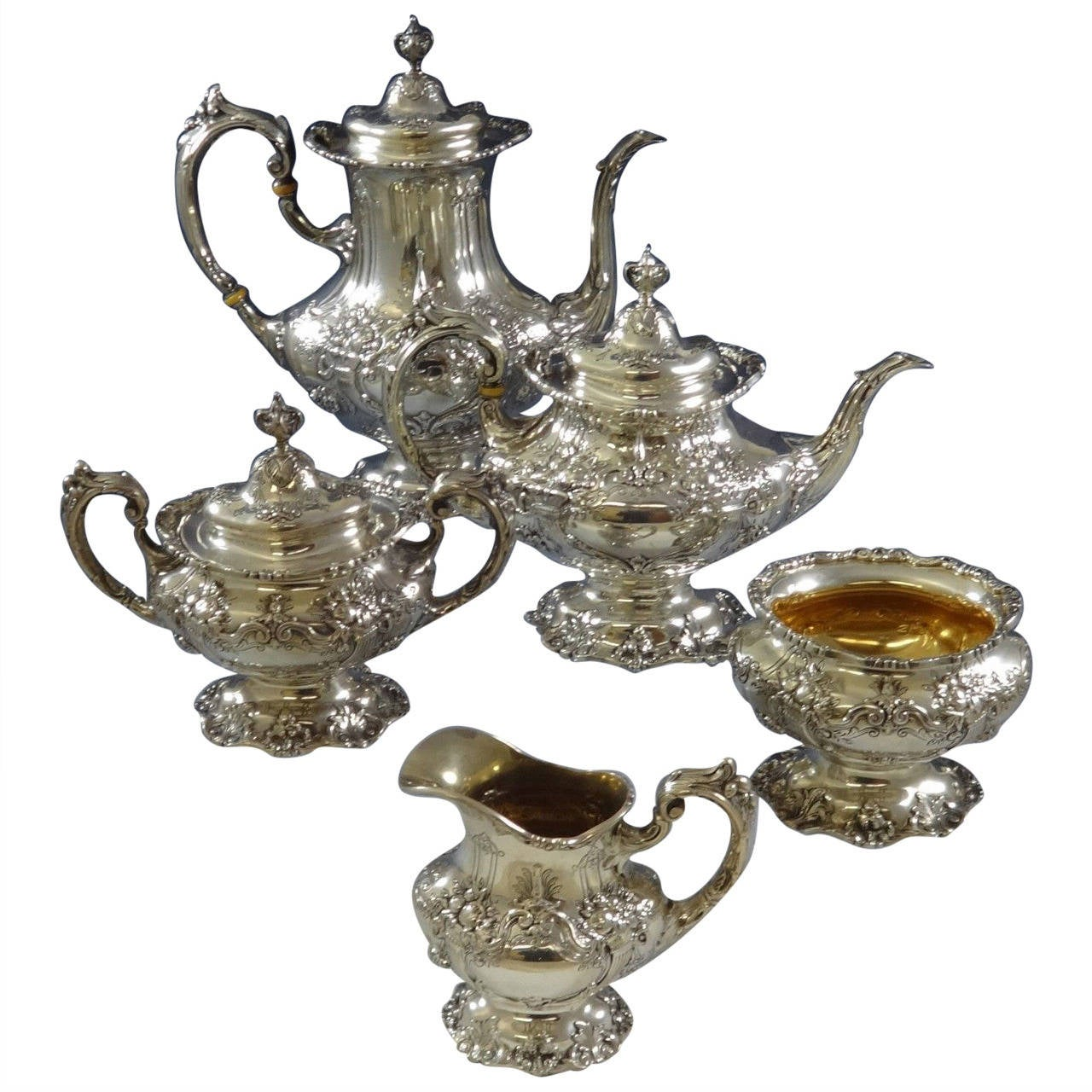 Francis I By Reed And Barton Sterling Silver Tea Set Of