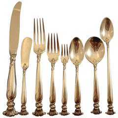Romance of the Sea Wallace Sterling Silver Flatware Set Shell Motif Dinner