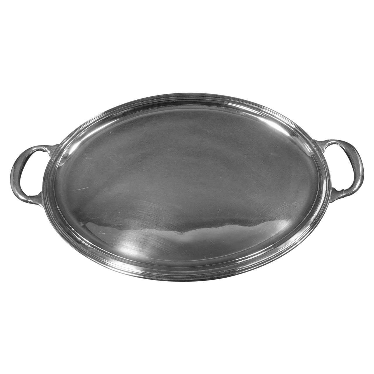 Buccellati Sterling Silver Italy Italian Tea Tray Hollowware