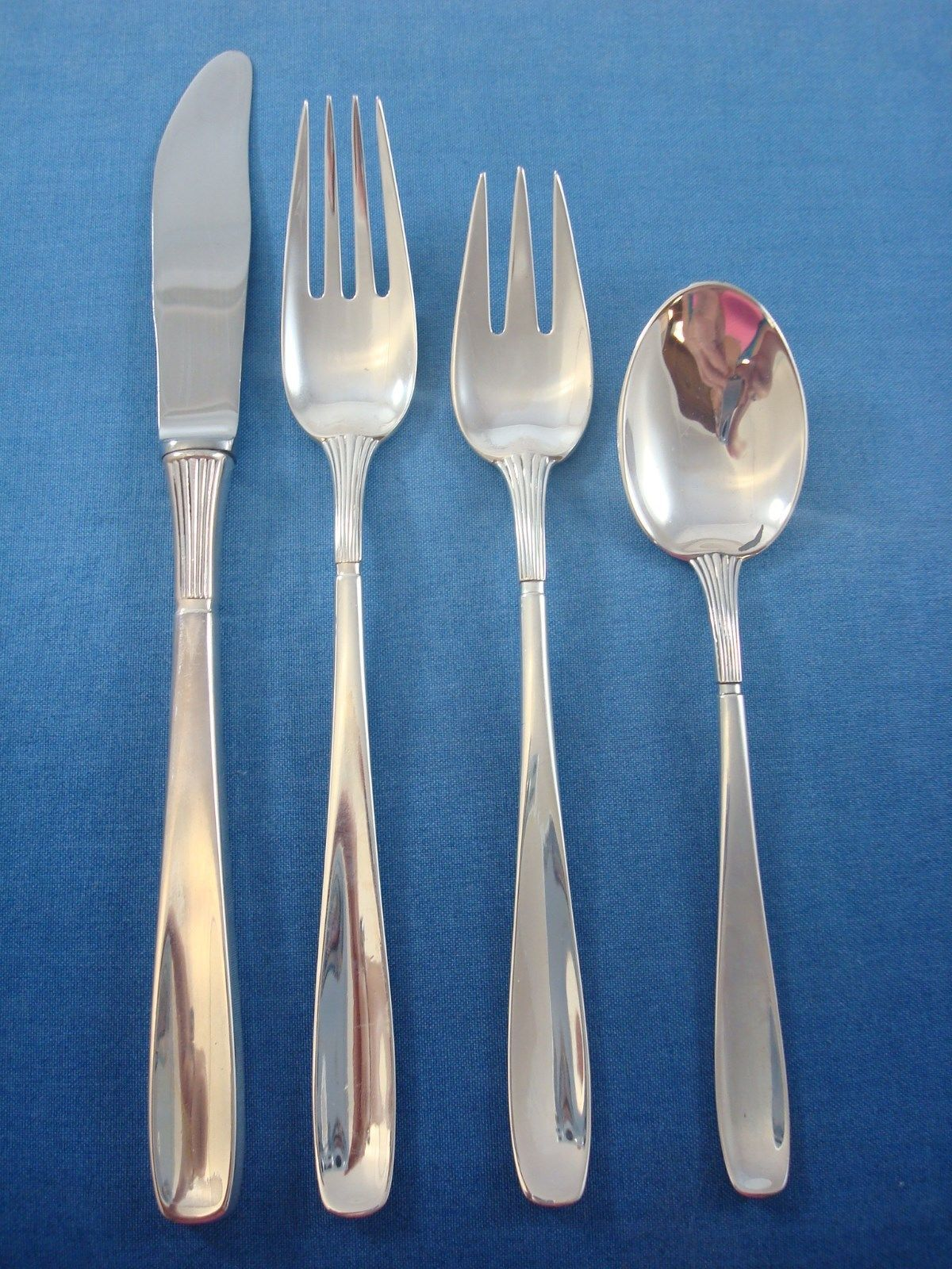 Ascot by sorensen sterling silver danish modern flatware set service 50 pieces for sale at 1stdibs - Danish modern flatware ...