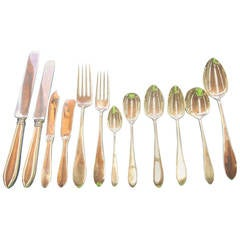 Pointed End by AJ Stone Sterling Silver Flatware Service Set Dinner 224 Pieces