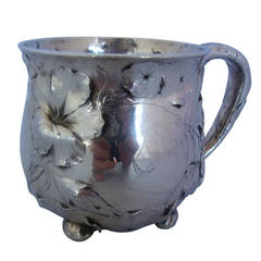 Martele by Gorham Sterling Silver Baby or Child's Cup Floral Motif Hollowware