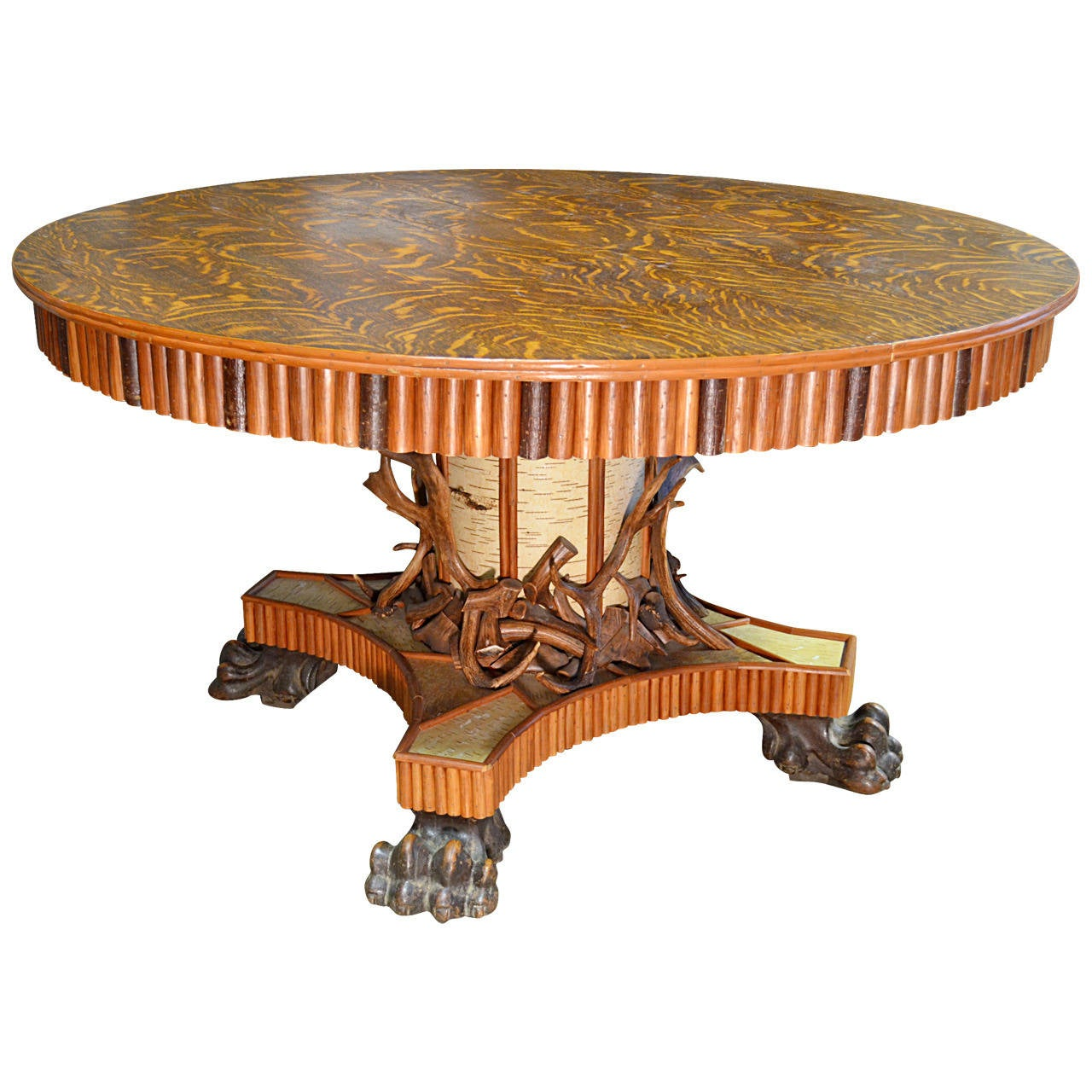 Great adirondack center table for sale at 1stdibs for Furniture centre table