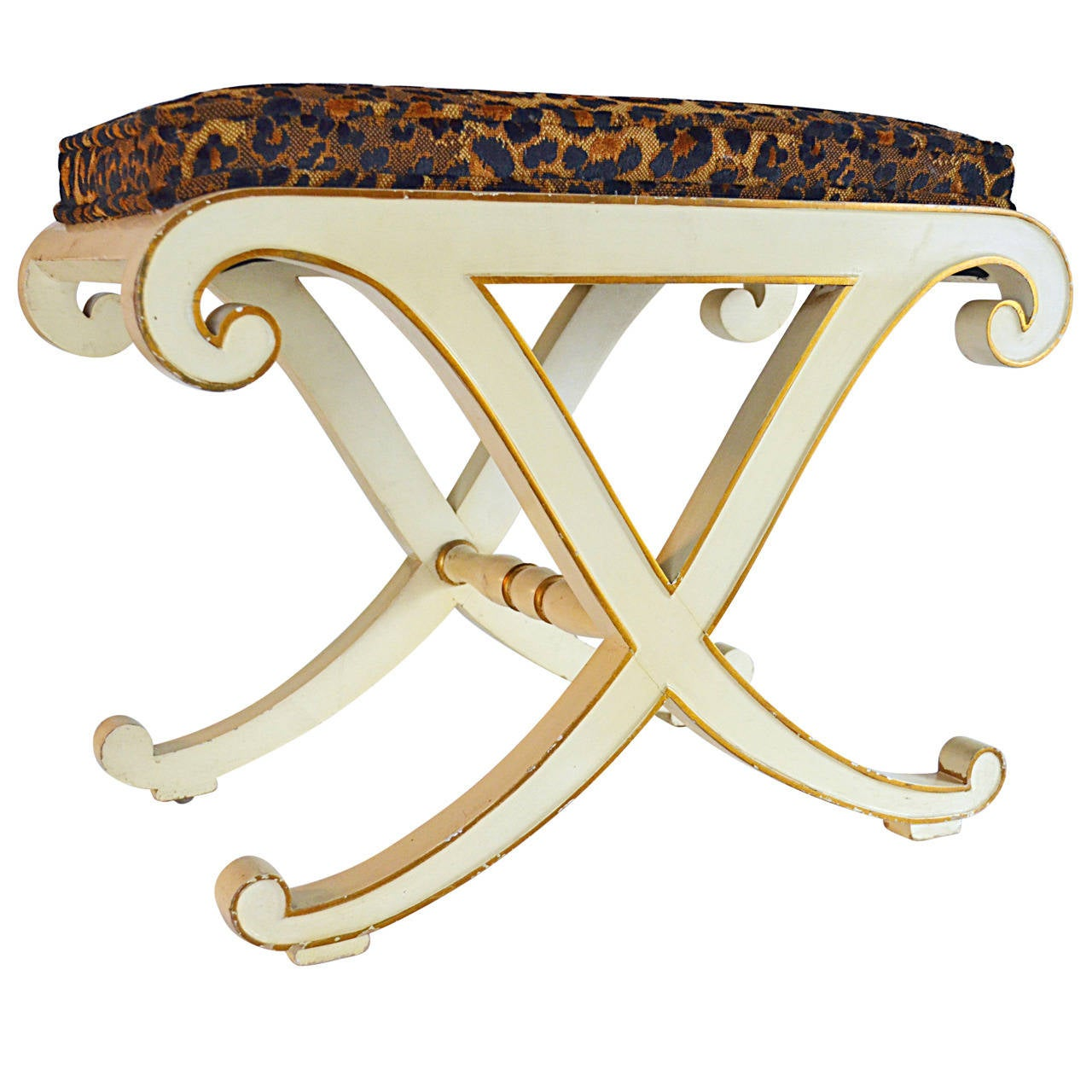 "Hollywood Regency ""X"" Bench"