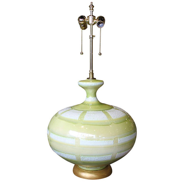 Large Hand Thrown Ceramic Table Lamp