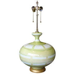 Large Hand Thrown Ceramic Table Lamp