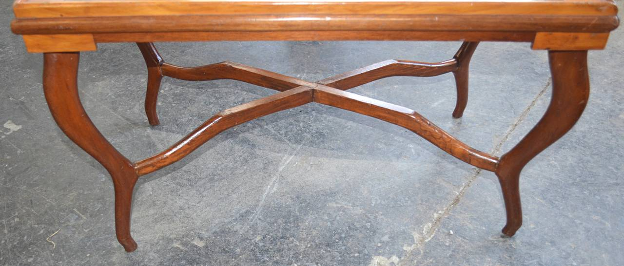 American Folk Art Parquetry Occasional Table 4