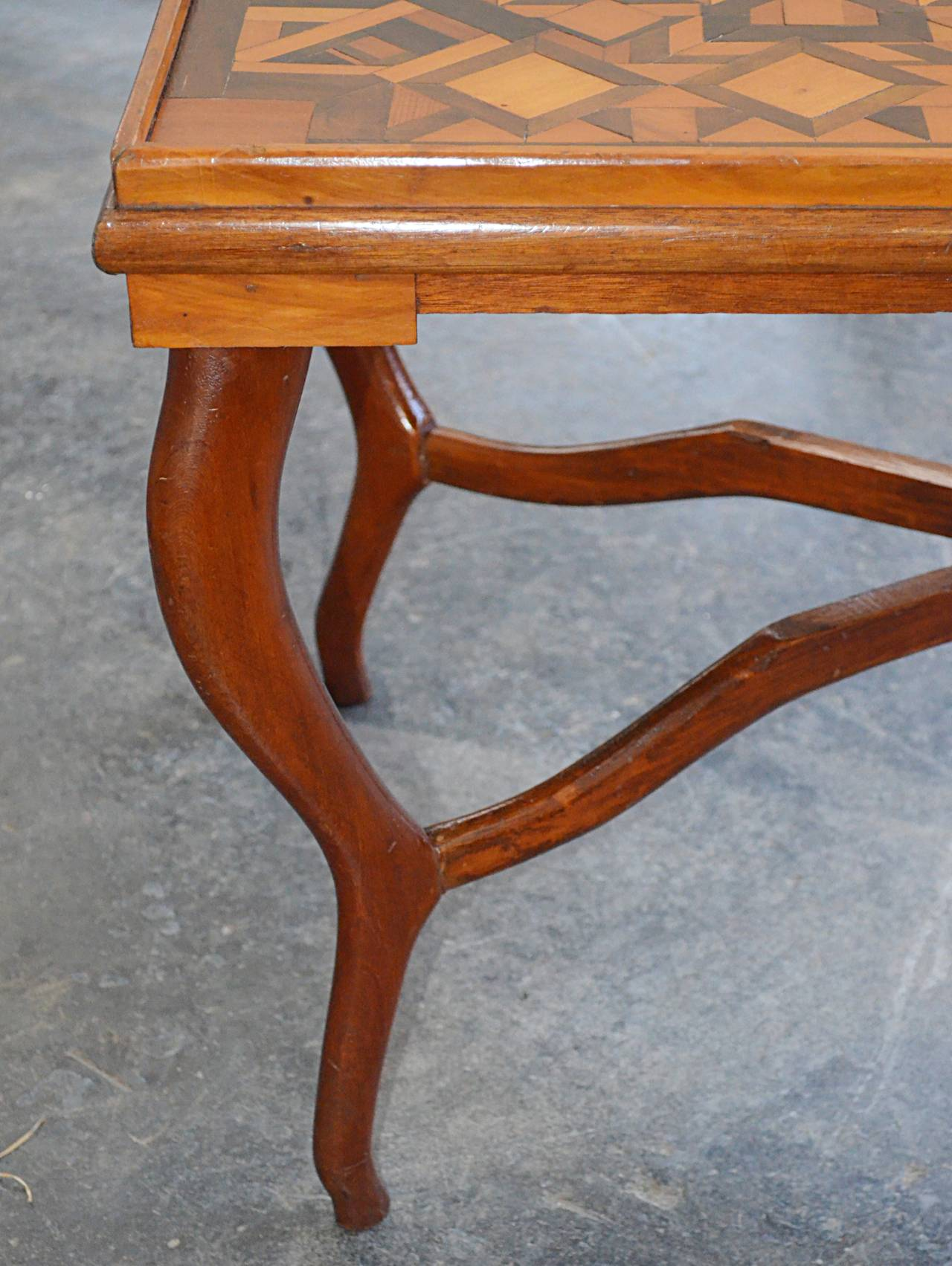 American Folk Art Parquetry Occasional Table 6