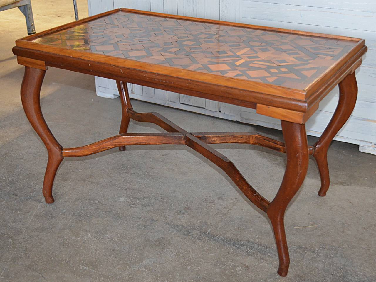 American Folk Art Parquetry Occasional Table 3