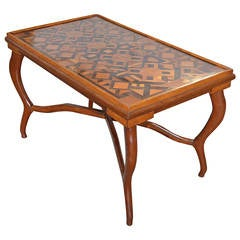 American Folk Art Parquetry Occasional Table