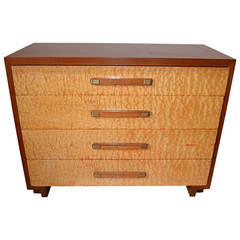 Walnut and Burled Sycamore Gentleman's Chest