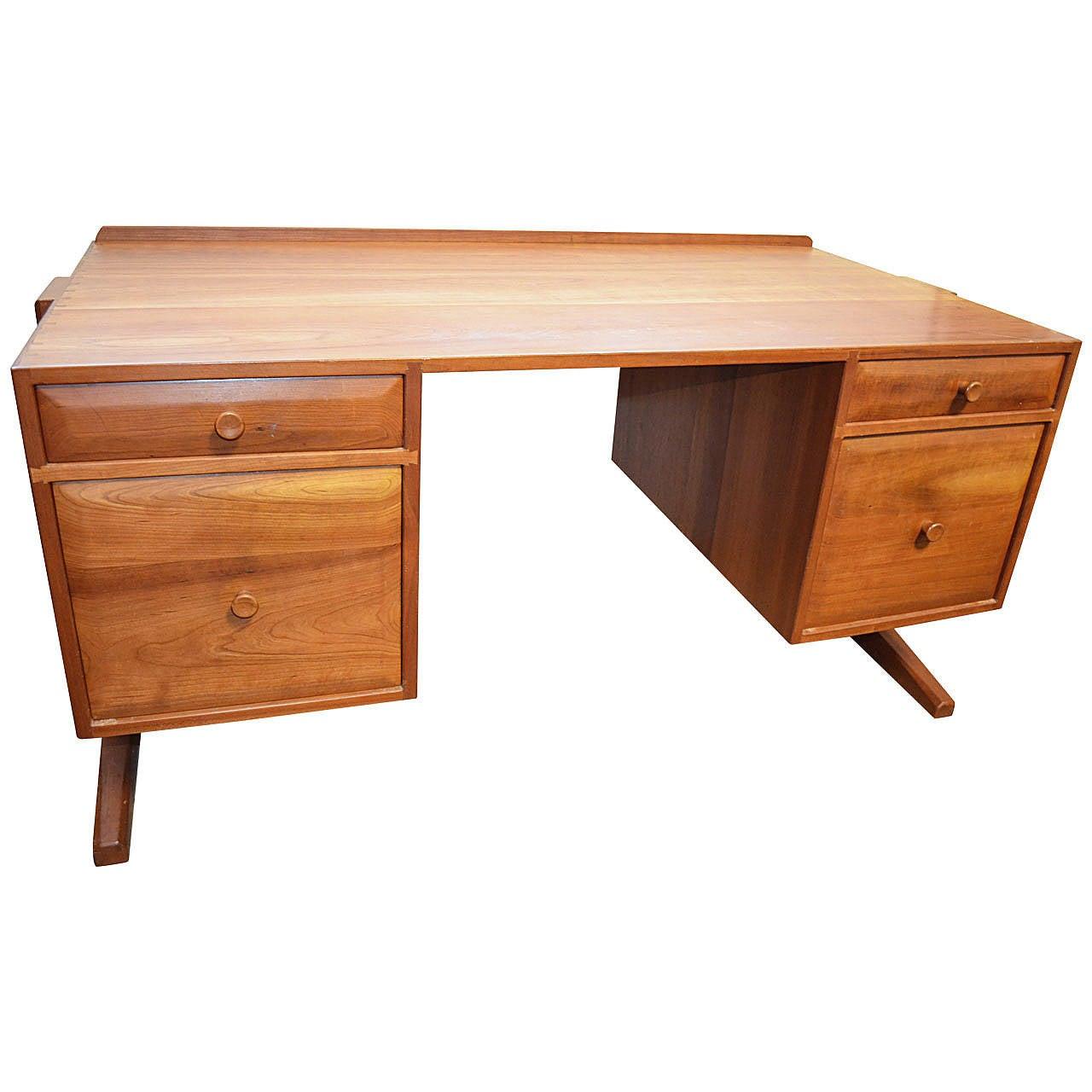 Custom studio craftsman cherry desk walker weed for sale for Unique desks for sale