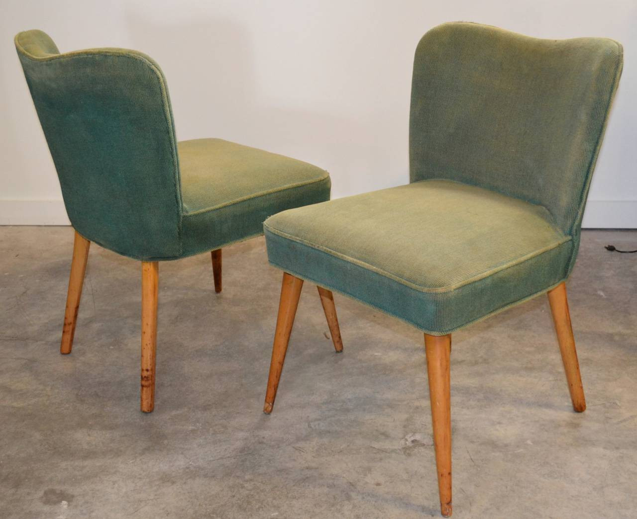Pair of Modernist Side Chairs 2