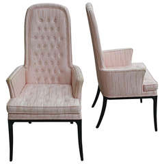 Pair of Erwin-Lambeth High Back Armchairs