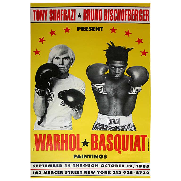 Warhol Basquiat Exhibition Poster At 1stdibs