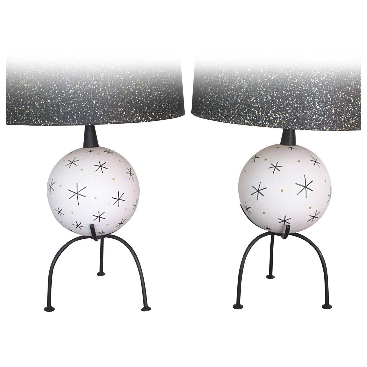 Pair of Atomic Age Table Lamps