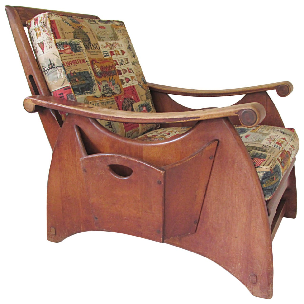 Gilbert Rohde For Heywood Wakefield Reclining Lounge Chair