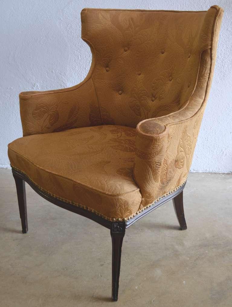 Pair of Winged Parlor Chairs circa 1930 at 1stdibs