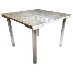 Marble and Lucite Cocktail Table