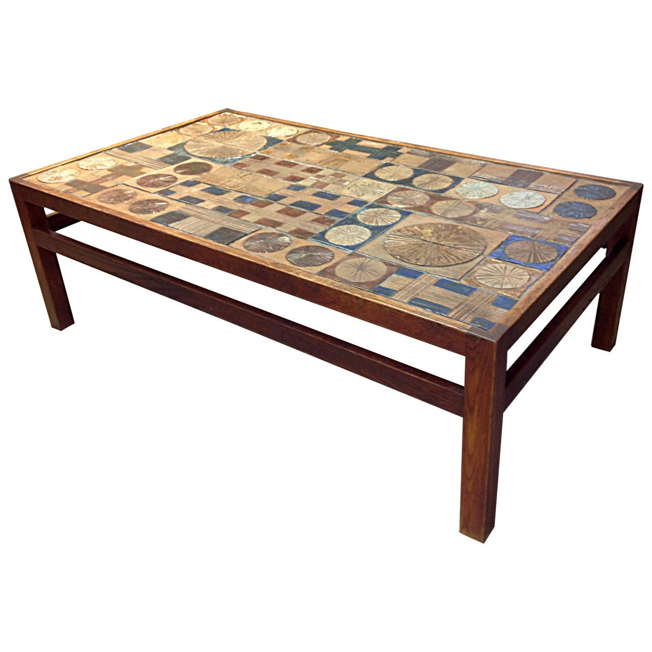 Tue Poulsen Tile And Willy Beck Cocktail Table At 1stdibs