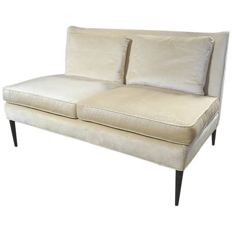 Paul Mccobb Armless Loveseat For Directional Model 303 1 2