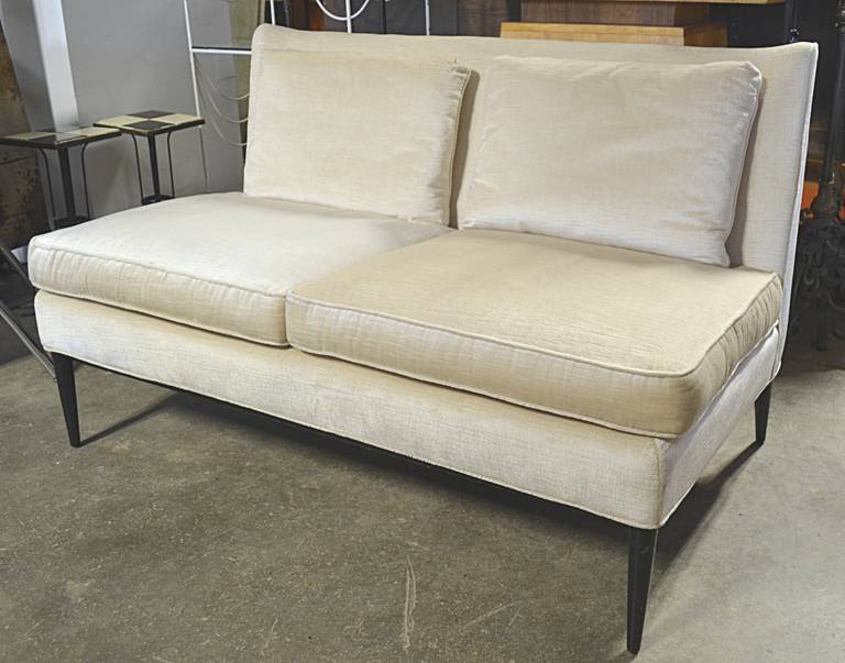 paul mccobb armless loveseat for directional model 303 12 2