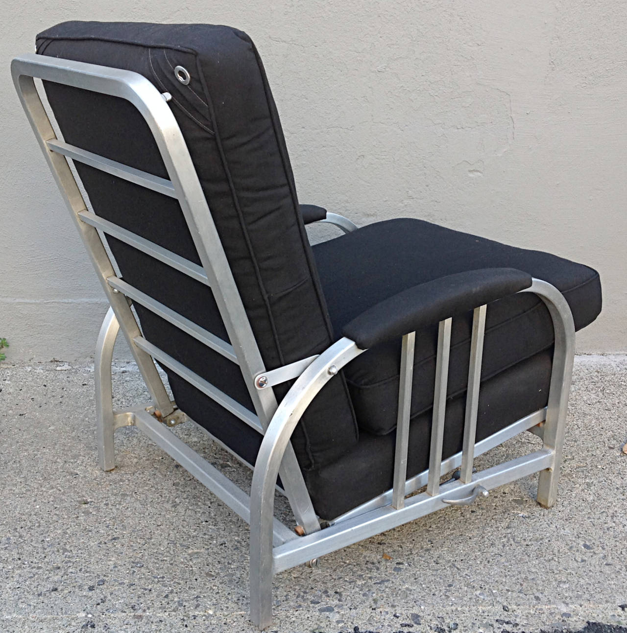 machine age goodform aluminum reclining lounge chair for sale at