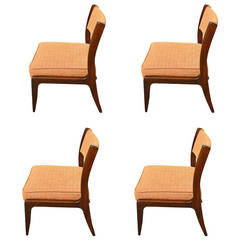 Set of Four Harvey Probber Side Chairs