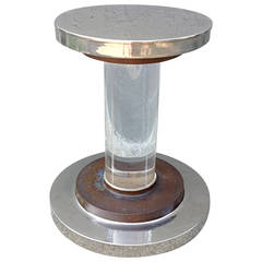 Romeo Rega Lucite Nickel and Copper Pedestal
