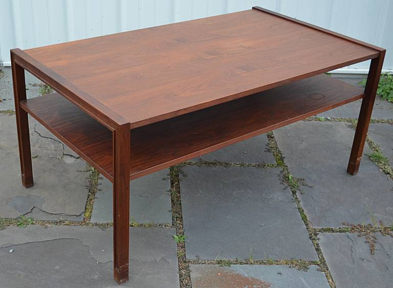 Walnut Two-Tier Cocktail Table by Edward Wormley for Dunbar 6