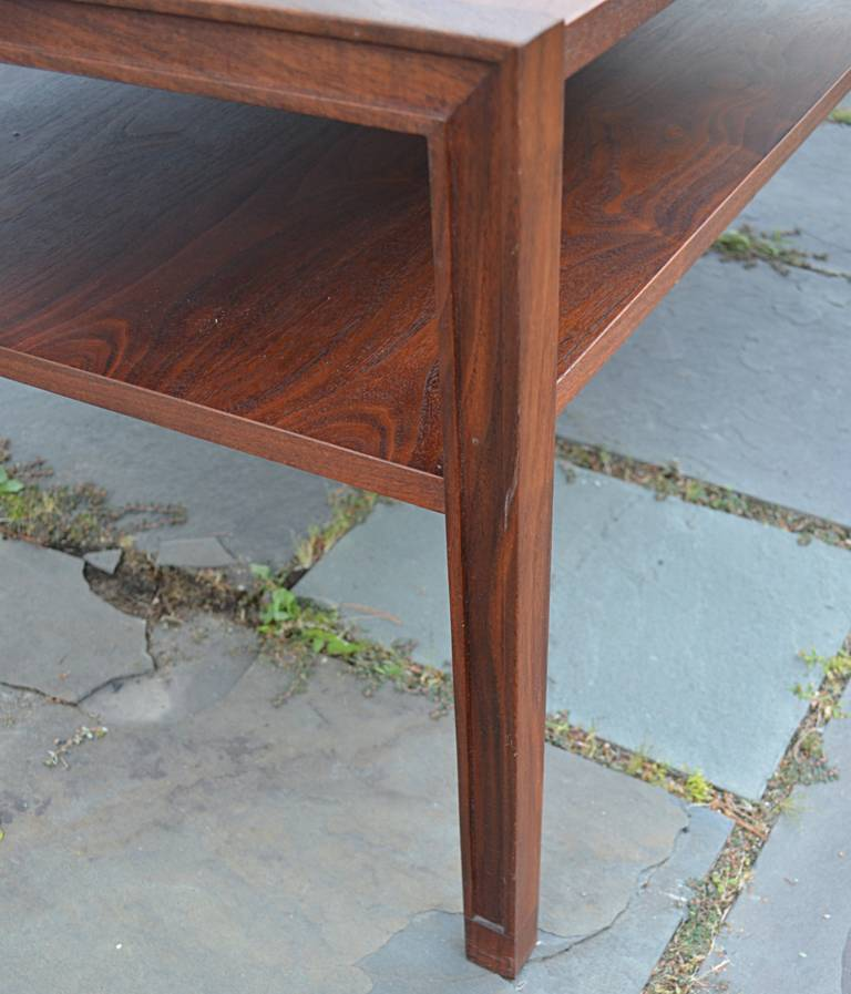 Walnut Two-Tier Cocktail Table by Edward Wormley for Dunbar 4