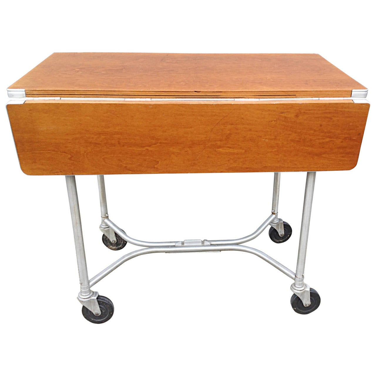 warren mcarthur drop leaf rolling table for sale at 1stdibs