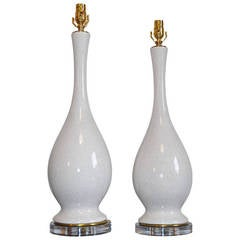 Raku Glazed Table Lamps, 1960s