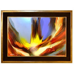 "Leonardo Nierman ""Ignicion Cosmica"" Painting"