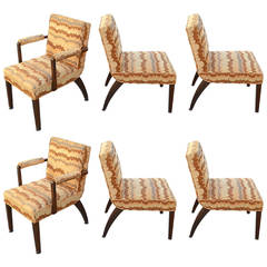 Gilbert Rohde for Herman Miller Set of Six Dining Chairs